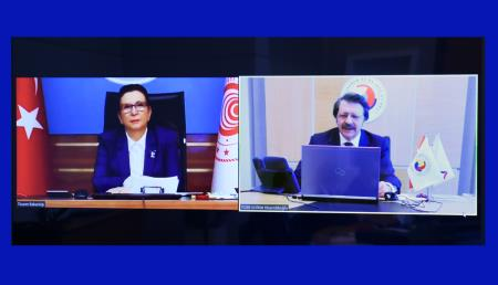 Hisarcıklıoğlu and Minister of Commerce Pekcan convened online with Chamber, Commodity Exchange and Sector Council Presidents